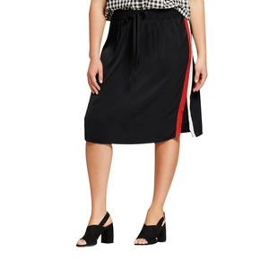 Women's Plus Size Silky Track Skirt